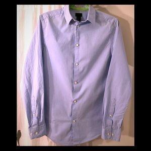 H&M light blue button down slim fit shirt